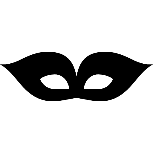 Carnival Black Elegant Eyes Mask Icons Free Download