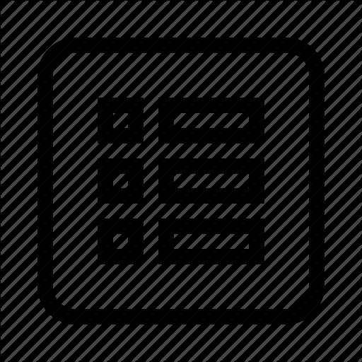 Drive, Form, List Icon