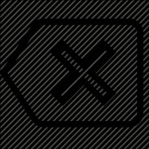 Backspace, Clear, Delete, Left, Remove Icon