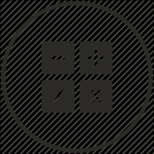 Calc, Calculator, Circle, Instrument, Math Icon