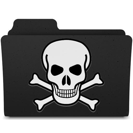 Free Skull Folder Icon Download Skull Folder Icon