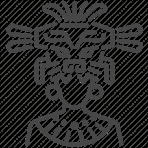 Ancient, Aztec, Maya, Mayan, Shaman, Tribe, Warrior Icon