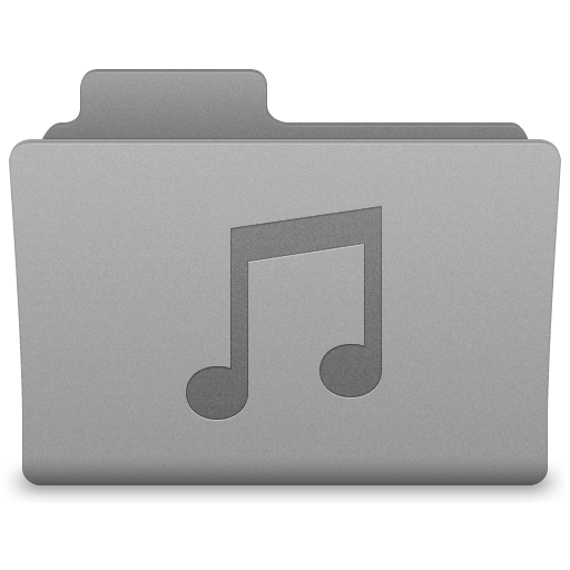 Grey Music Folder Icon