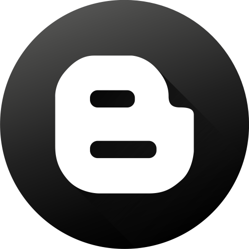 Black White, Blog, Blogger, Blogspot, Media, Social, Social Media Icon