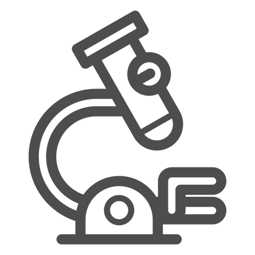 Medical Microscope Stroke Icon