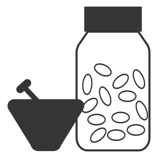 Line Style Mortar And Pestle Medicine Icon