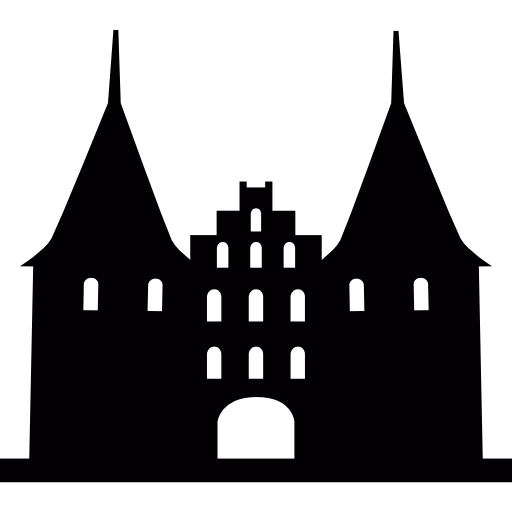 Holsten Gate, Gothic Style Medieval Monument In Germany Icons