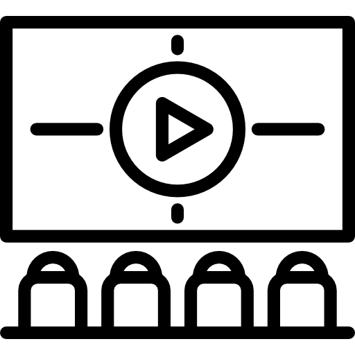 Audience, Meeting, Staff Meeting, Cinema, Interface, Viewing Room Icon
