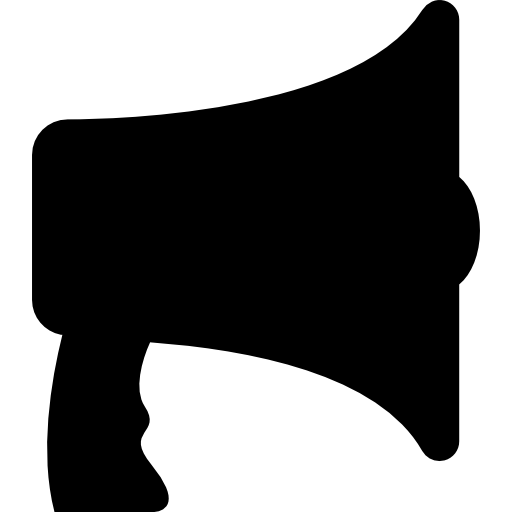 Megaphone Or Speaker Silhouette Icons Free Download