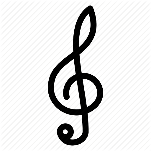 Melody, Music, Music Note, Note, Treble Clef Icon