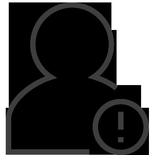 User Alert Icon Silky Line User Iconset Custom Icon Design