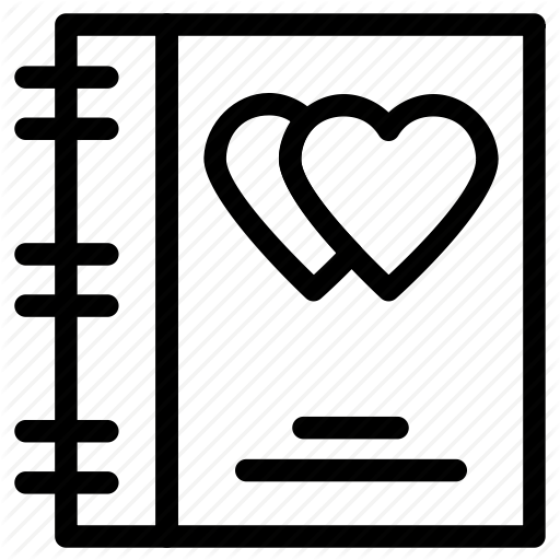 Diary, Heart Sign, Love, Love Inspirations, Memo Icon