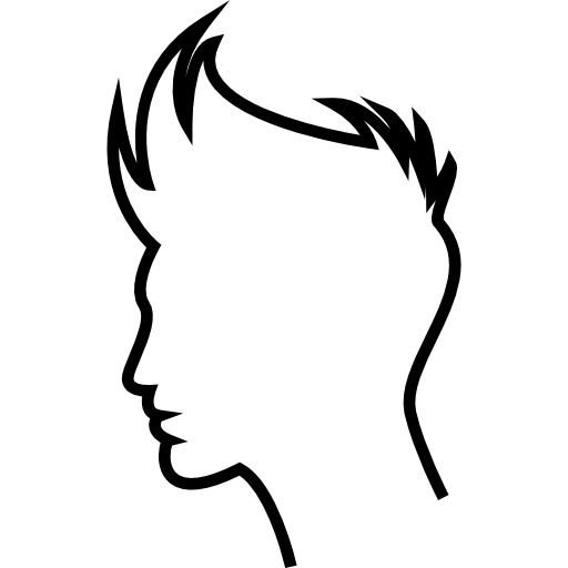 Boy Hair Outline Icons Free Download