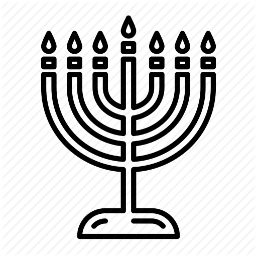 Beliefs, Jew, Jewish, Menorah Icon