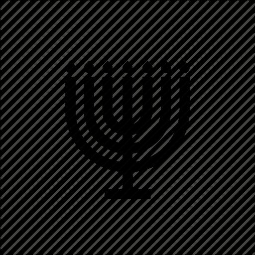 Candlestick, Fire, Flame, Israel, Jewish, Menora, Menorah Icon