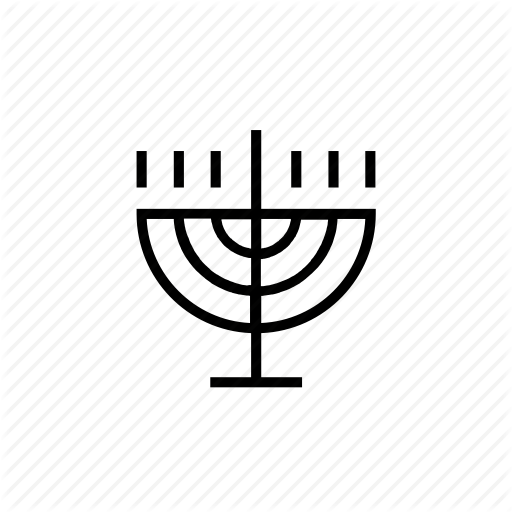 Candlestick, Fire, Holiday, Judaica, Light, Menora, Menorah Icon