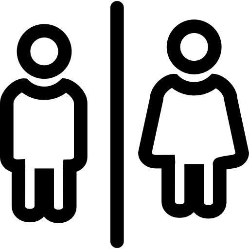 Bathrooms For Men And Women Outlines Sign Icons Free Download