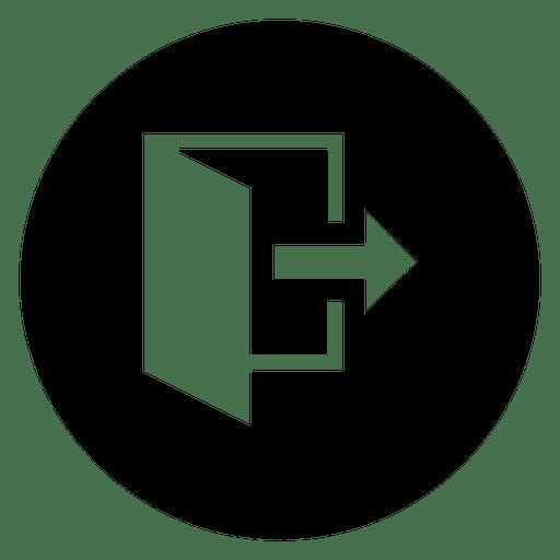 Open Round Service Silhouette Icon