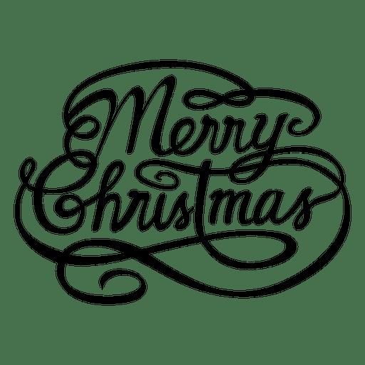 Merry Christmas Calligraphic Logo