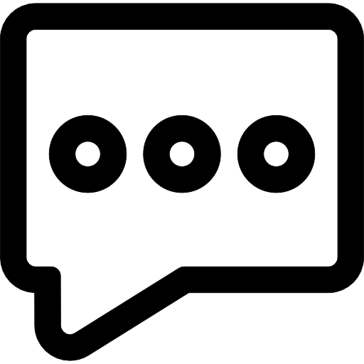Message Rectangular Outline With Three Dots Icons Free Download