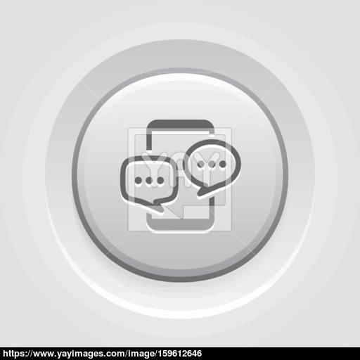 Mobile Discussion Board Icon Business Concept Vector