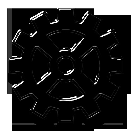 Wide Spoke Gear Icon