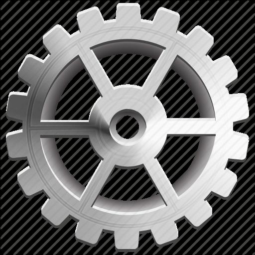 Cog, Gear, Industrial, Metallic, Spokes, Sprocket, Wheel Icon