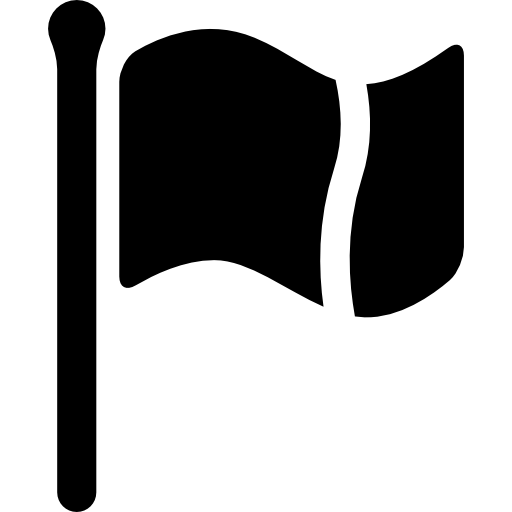 Cutted Pole Flag Waving