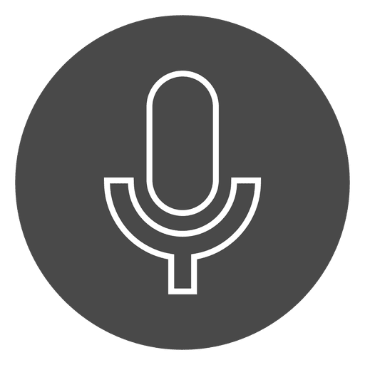 Microphone On Button Circle Icon