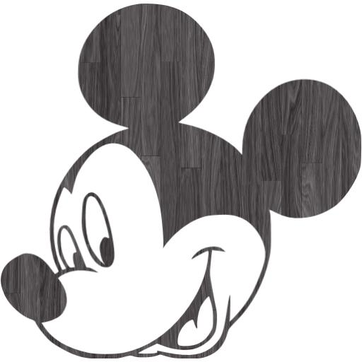 Mickey Mouse Black And White Face Group With Items