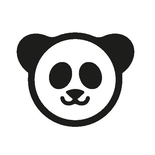 Panda Bear Vector Icon