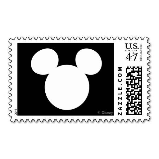 Disney Logo White Mickey Icon Postage Mickey Mouse
