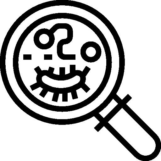 Bacteria, Education, Medical, Biology, Virus, Science Icon