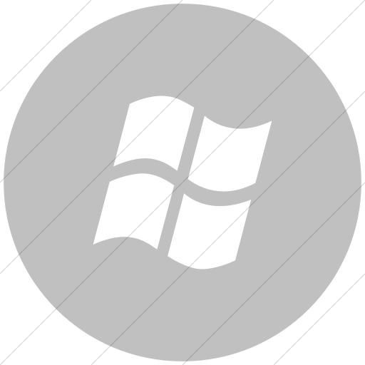 Flat Circle White On Silver Broccolidry Microsoft Icon