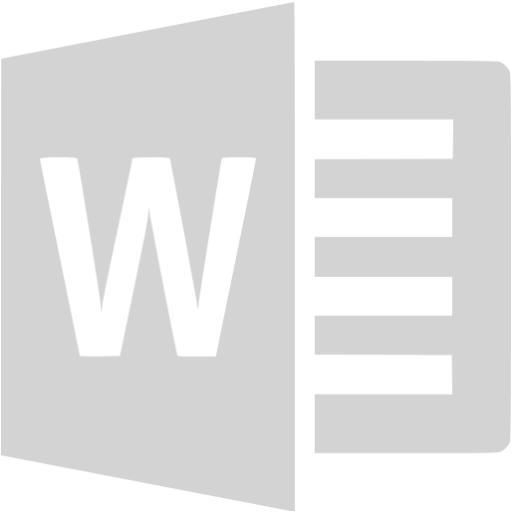 Light Gray Microsoft Word Icon