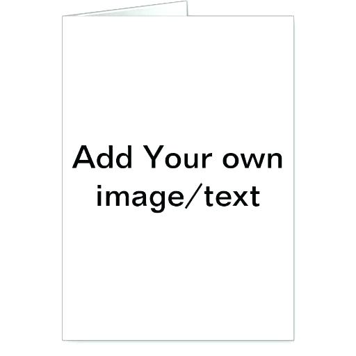 Microsoft Word Greeting Card Template Plain Business Free