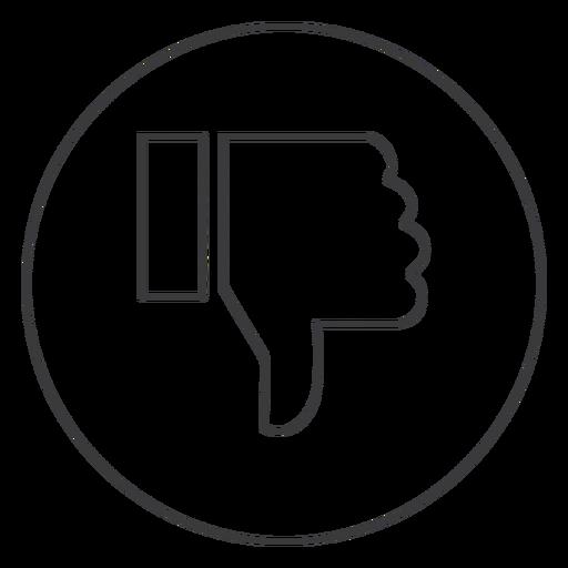 Hand Dislike Thumb Sign Icon