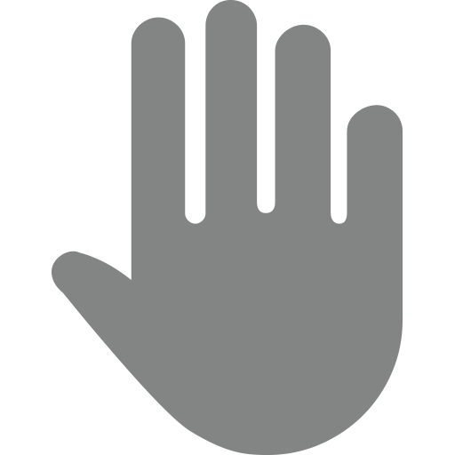Raised Hand With Fingers Splayed Emoji For Facebook, Email Sms