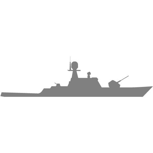 Gray Military Boat Icon