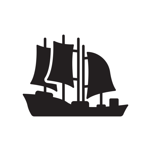 Boat, Sail, Schooner, Ship, Transport, Water, Yacht Icon Free