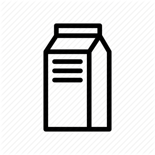 Beverage, Bottle, Drink, Milk, Milk Carton, Milk Pack Icon