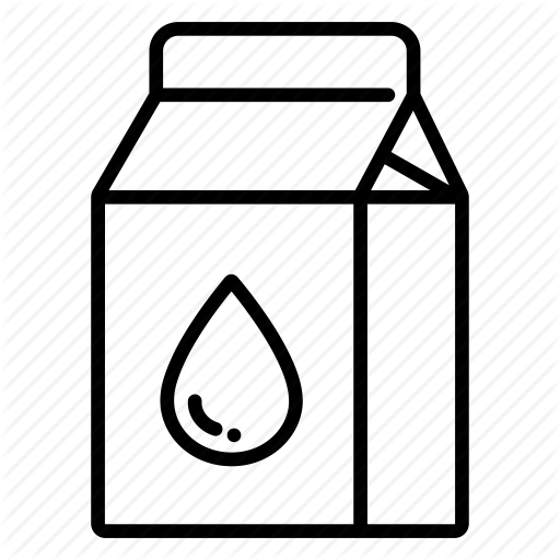 Beverage, Box, Drink, Milk, Milk Carton, Milk Pack, Packaged Food Icon