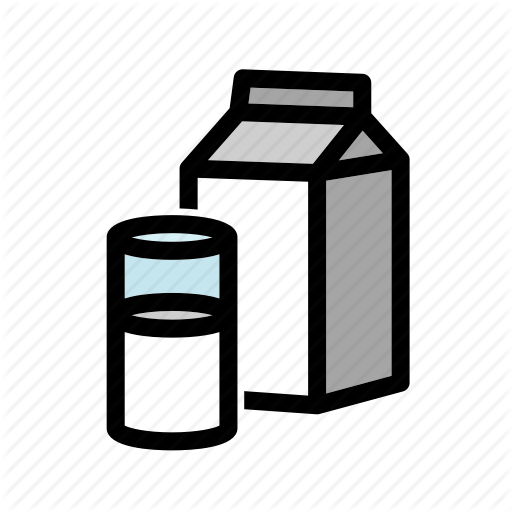 Beverage, Drink, Glass, Milk, Milk Box, Milk Carton Icon