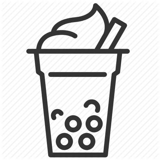 Beverage, Bubble, Bubble Tea, Drink, Milk Tea, Pearl Milk Tea Icon