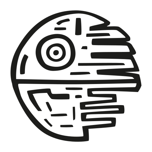 Death, Star Icon Free Of Space Hand Drawn Black Sticker