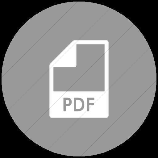 Flat Circle White On Light Gray Mime Types Document Pdf