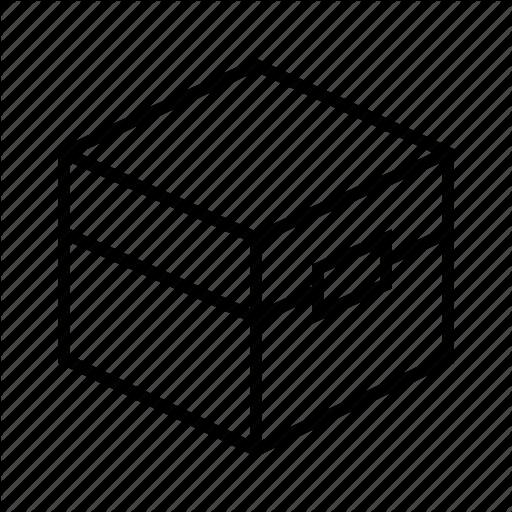 Archive, Bin, Box, Carton, Chest, Minecraft, Stock Icon
