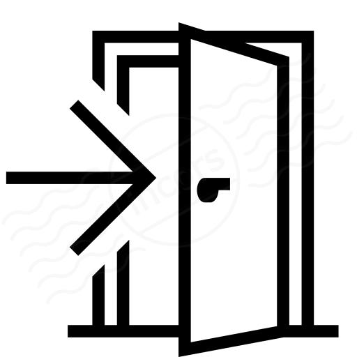 Door Thin Line Icon Of Close Door Sign Editable Vector