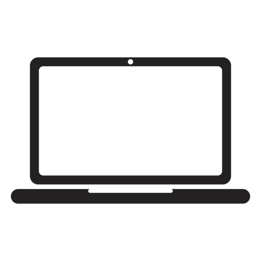 Laptop Computer Vector Icon Isolated On Transparent