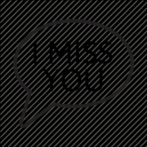 Balloon, Bubble, Chat, Conversation, I Miss You, Speech, Talk Icon